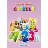 Cifrele - Carte de colorat A5, editura Eurobookids