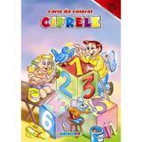 Cifrele - Carte de colorat A4, editura Eurobookids