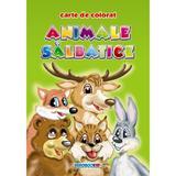 Animale salbatice - Carte de colorat A5, editura Eurobookids