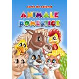 Animale domestice - Carte de colorat A5, editura Eurobookids