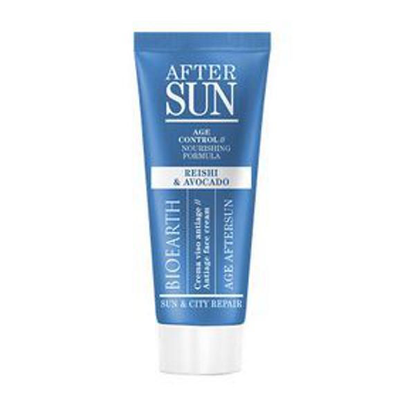 Crema Antirid Aftersun pentru Ten cu Ganoderma si Avocado Sun & City Repair Bioearth, 50 ml