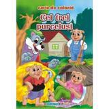 Cei trei purcelusi - Carte de colorat ed. 2012 (2.5), editura Eurobookids
