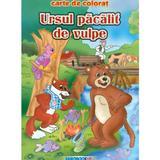 Ursul pacalit de vulpe - Carte de colorat ed. 2012 (2.5), editura Eurobookids