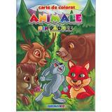 Animale din padure - Carte de colorat, editura Eurobookids
