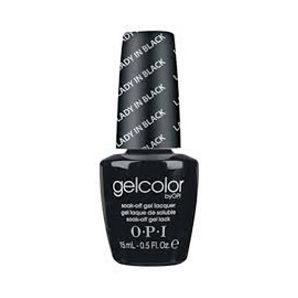 Lac de Unghii Semipermanent - OPI Gel Color Sheers Lady In Black, 15 ml