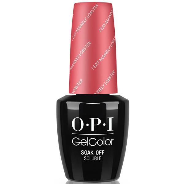 Lac de Unghii Semipermanent - OPI Gel Color I Eat Mainely Lobster , 15 ml