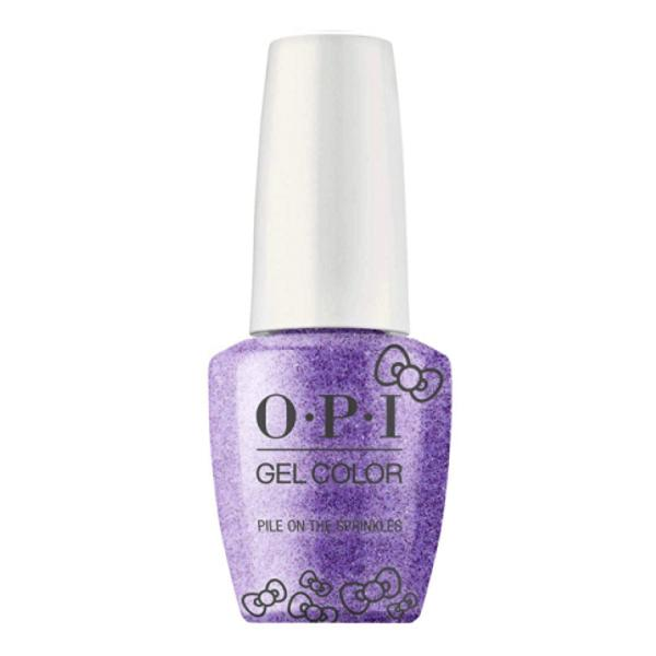 Lac de Unghii Semipermanent - OPI Gel Color HELLO KITTY Pile On The Sprinkles, 15 ml poza