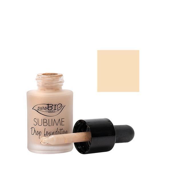 Fond de Ten Sublime Drop Foundation 01 PuroBio Cosmetics, 15ml poza