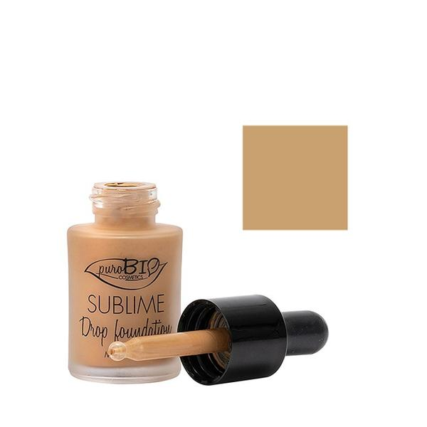 Fond de Ten Sublime Drop Foundation 04 PuroBio Cosmetics, 15ml