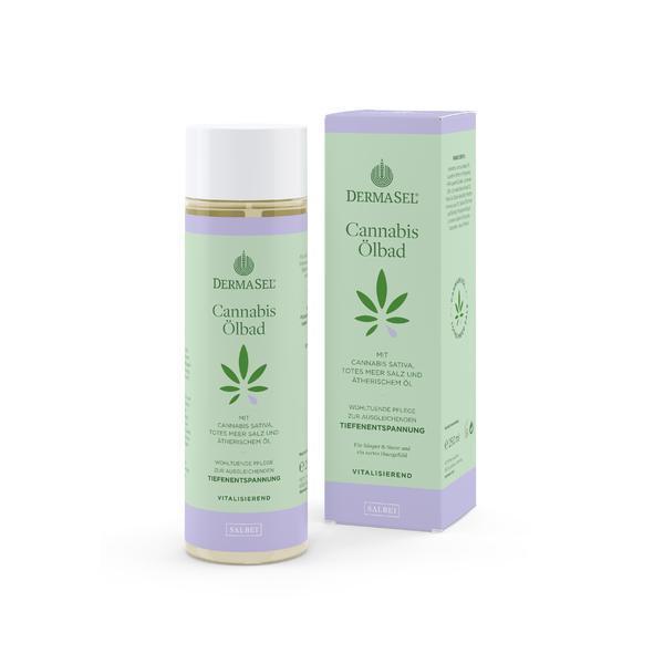 Ulei baie cu ulei de cannabis si salvie Dermasel 250 ml