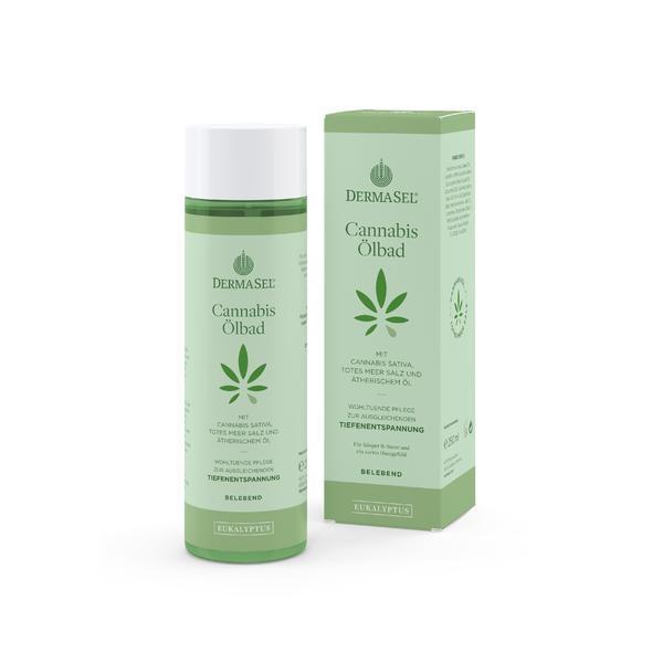 Ulei baie cu ulei de cannabis si eucalipt Dermasel 250 ml
