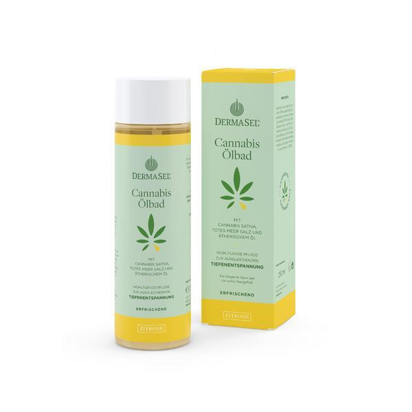 Ulei baie cu ulei de cannabis si lamaie Dermasel 250 ml