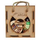 Set cadou rustic argan cutie lemn - ulei argan fraicheur 60 ml+crema cu ulei argan 100 ml+sapun cu ulei argan 40 gr