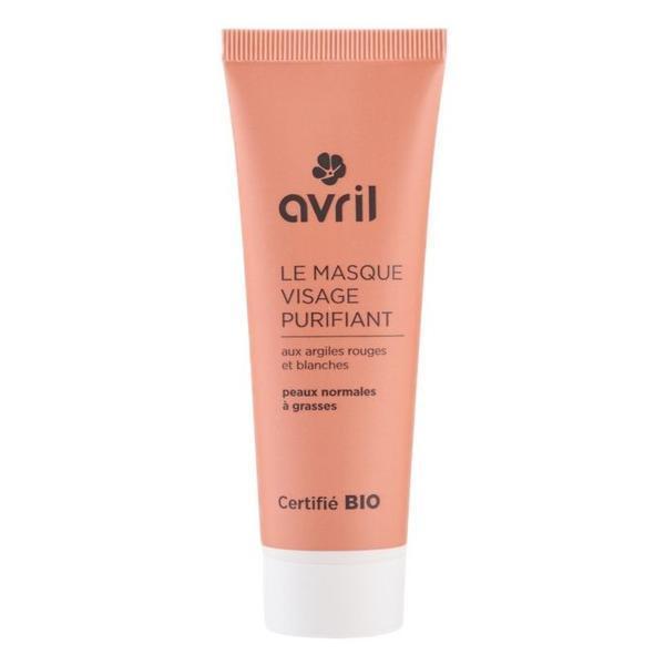 Masca Bio Purifianta cu Argila Alba si Rosie Avril, 50 ml imagine produs