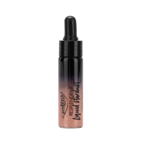 Iluminator Lichid Roz Auriu 02 PuroBio Cosmetics, 12ml
