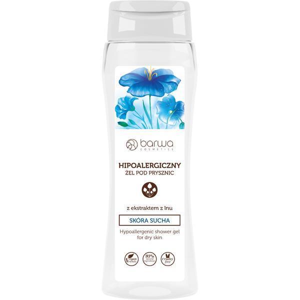 Gel de dus hipoalergenic cu extract de in, piele uscata Barwa 400 ml esteto.ro