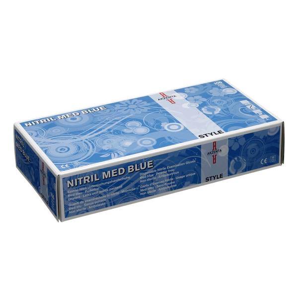 Manusi din Nitril Med Blue Akzenta, marime S, 100 buc imagine produs
