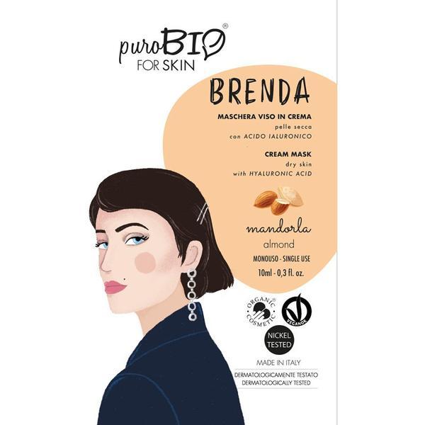 Masca Crema Tratament cu Migdale pentru Ten Uscat Brenda PuroBio Cosmetics, 10ml imagine produs
