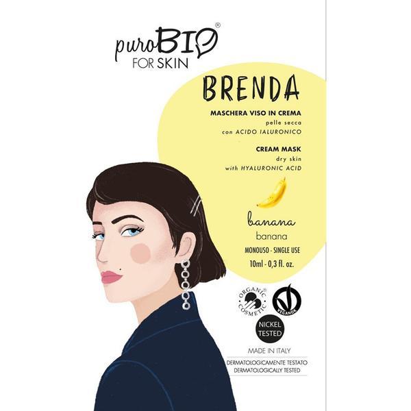 Masca Crema Tratament cu Banane pentru Ten Uscat Brenda PuroBio Cosmetics, 10ml imagine produs
