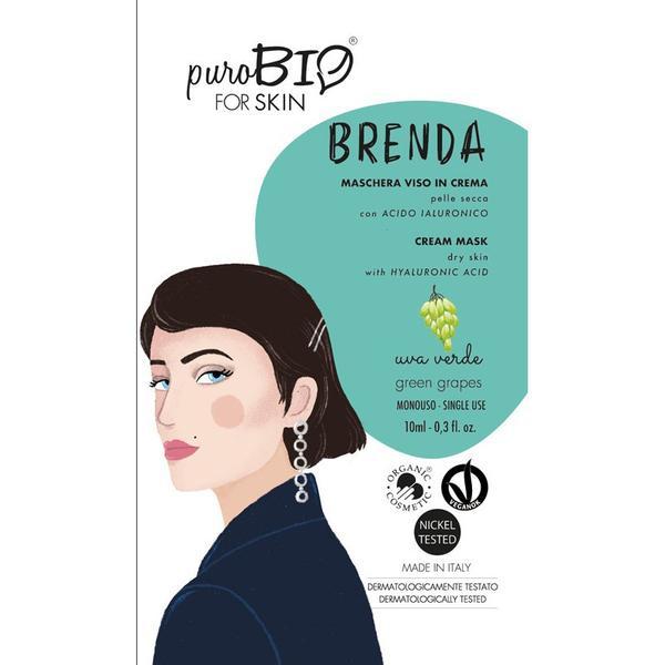 Masca Crema Tratament cu Struguri Verzi pentru Ten Uscat Brenda PuroBio Cosmetics, 10ml imagine produs