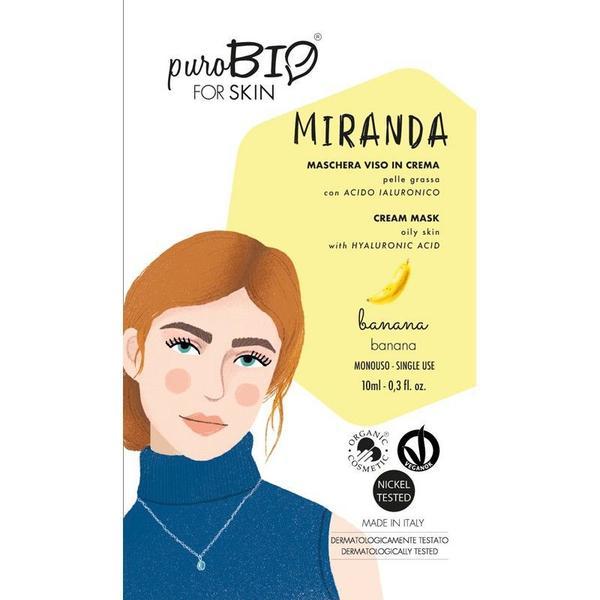 Masca Crema Tratament cu Banane pentru Ten Gras Miranda PuroBio Cosmetics, 10ml imagine produs