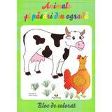 Animale si pasari din ograda - Bloc de colorat, editura Petrescu And Cioponea