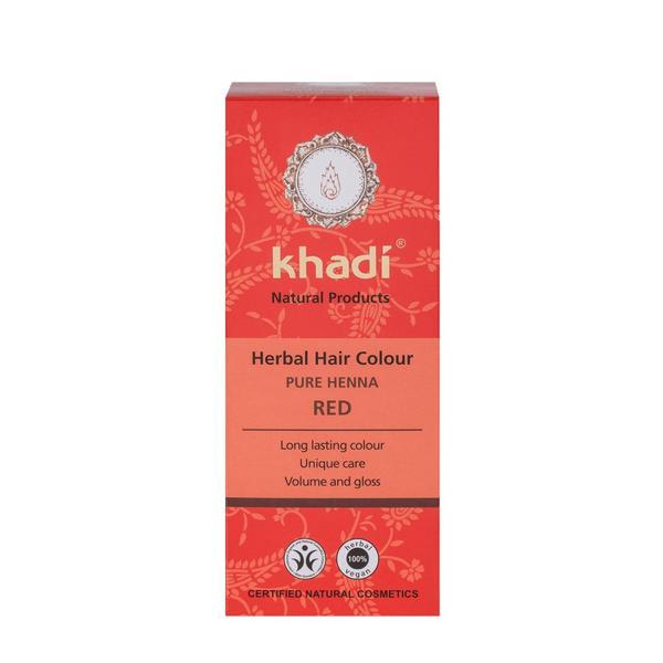 Vopsea Naturala Henna Rosu Khadi, 100 g imagine