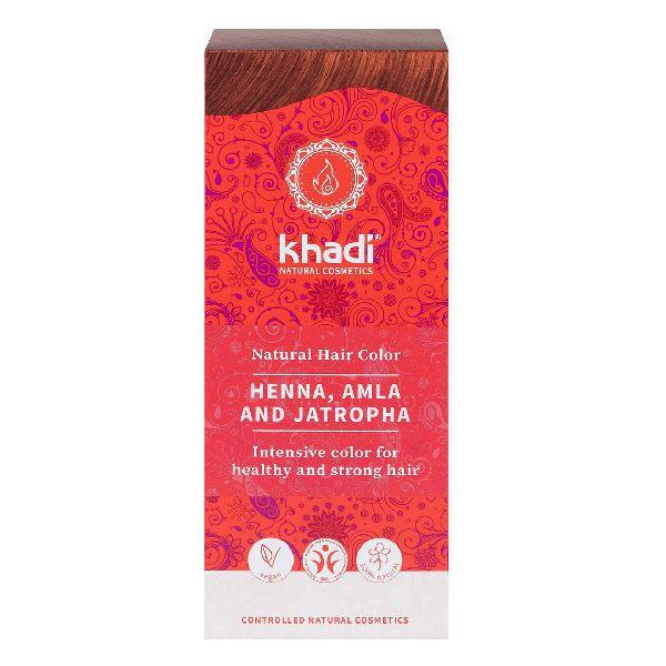Vopsea Henna cu Amla si Jatropha - Rosu Khandi, 100 g imagine