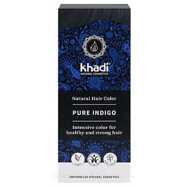 Vopsea Naturala Henna Negru Indigo Khadi, 100 g imagine