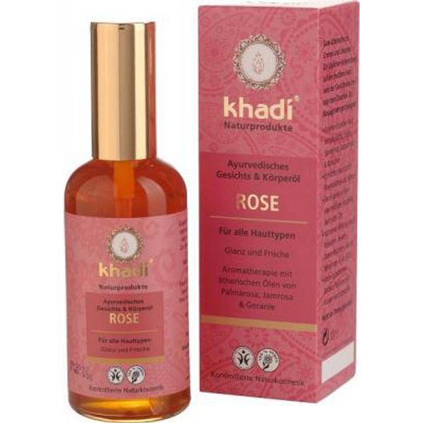 Ulei Indian pentru Piele cu Trandafiri Khadi, 100 ml imagine