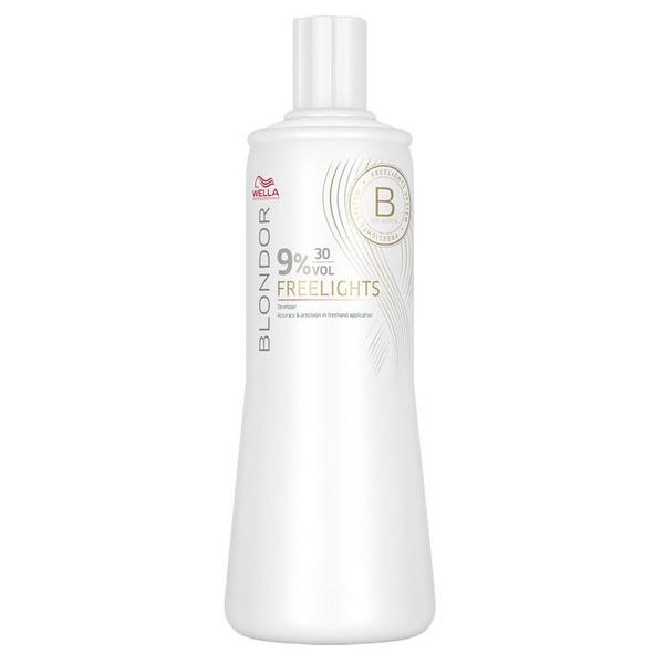Oxidant - Wella Professionals Blondor Freelights Developer, 9% - 30 Vol, 1000ml imagine produs