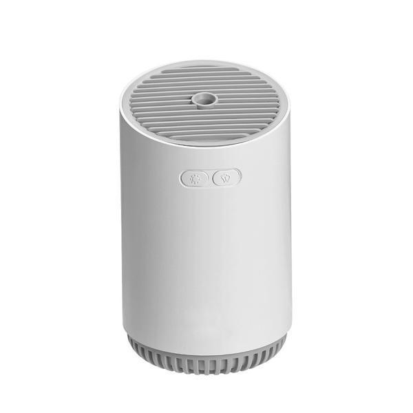 Umidificator de aer Ultrasonic Spring, 320ml, reincarcabil, lumina ambientala, USB