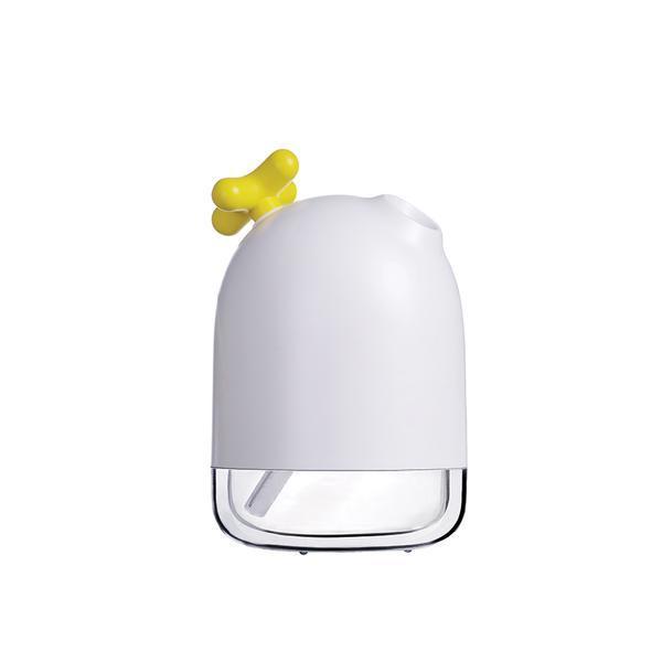 Umidificator de aer Ultrasonic Mist, 200ml, lumina ambientala, USB, Alb