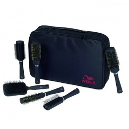 Set Universal Perii Profesionale - Wella Professional Brush Set Universal with Black Carry Bag
