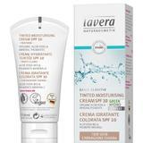 Crema Hidratanta Nuantata cu SPF10 pentru Ten Deschis Basis Sensitiv Lavera, 50ml
