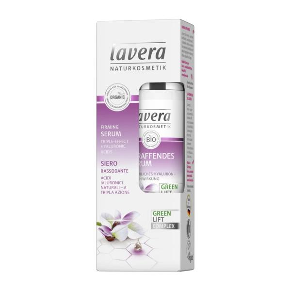 Serum pentru Fermitate cu Ceai Alb, Karanja si Acid Hialuronic Lavera, 30 ml