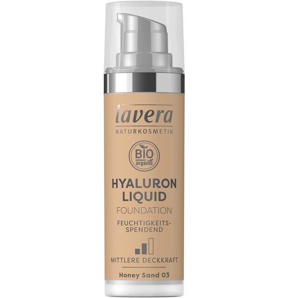 Fond de Ten Bio Hyaluron Liquid Honey Sand 03 Lavera, 30ml imagine produs