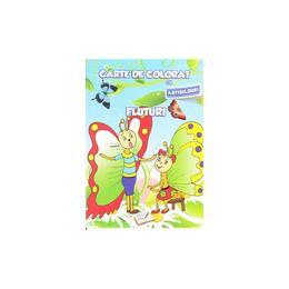 Fluturi - Carte de colorat cu abtibilduri, editura Ars Libri