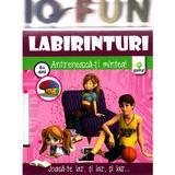 Iq Fun - Labirinturi - Antreneaza-Ti Mintea! 4+ Ani, editura Gama
