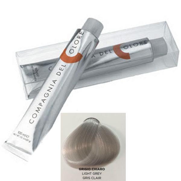 Vopsea Crema Compagnia del Colore, nuanta Light Grey, 100 ml - Corector imagine produs