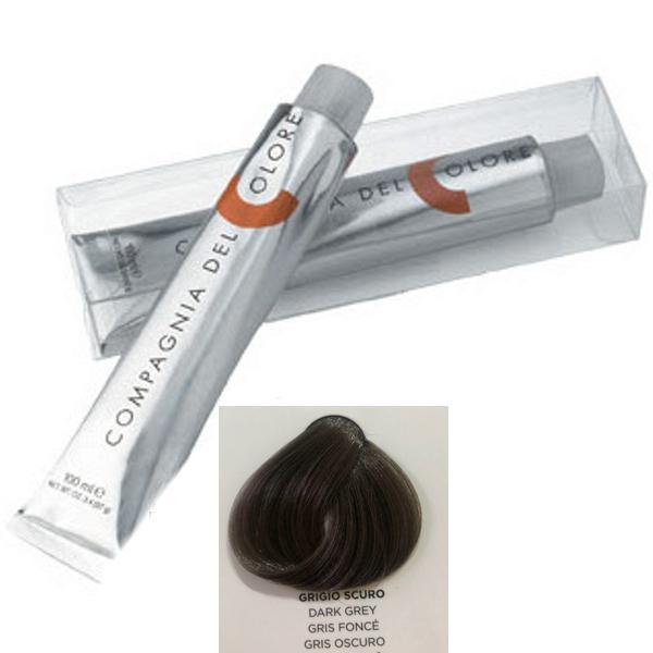Vopsea Crema Compagnia del Colore, nuanta Dark Grey, 100 ml - Corector imagine produs