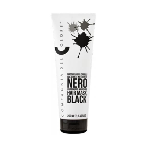 Masca Coloranta Nuantatoare Compagnia del Colore, nuanta Black, 250 ml imagine produs