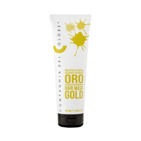 Masca Coloranta Nuantatoare Compagnia del Colore, nuanta Gold, 250 ml imagine produs