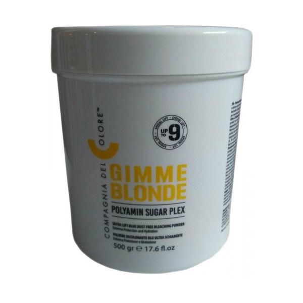Pudra Decoloranta 9 Tonuri Sugar Plex Gimme Blonde Compagnia del Colore, 500 g poza