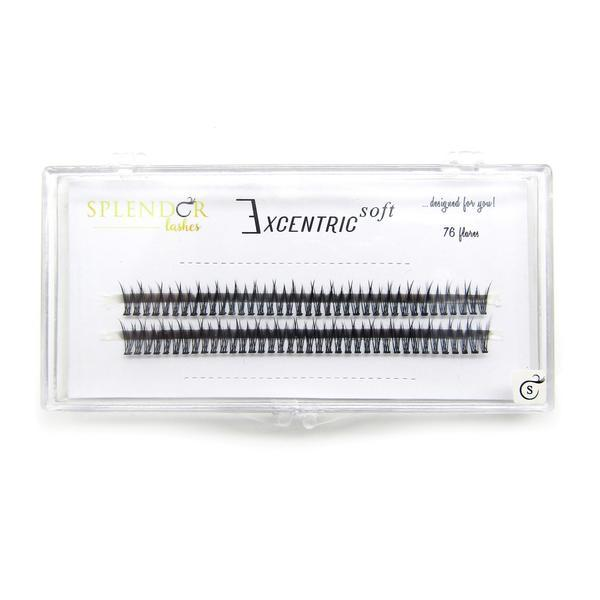 Gene false smocuri Excentric Soft Silk Lashes 76 buc marimea S imagine produs