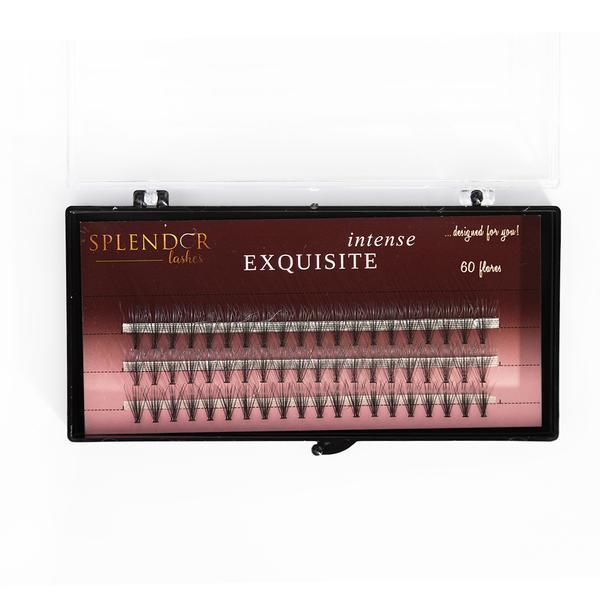 Gene false smocuri Exquisite Intense 20D Silk Lashes - 60 buc marimea M imagine produs