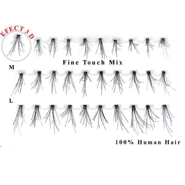 Gene false smocuri 3D par natural Fine Touch Mix 30 buc imagine produs