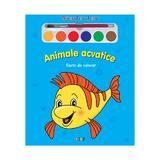 Animale acvatice - Miracolul culorilor - Carte de colorat, editura Prut