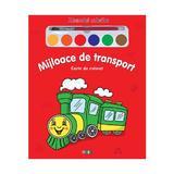 Mijloace de transport - Miracolul culorilor - Carte de colorat, editura Prut