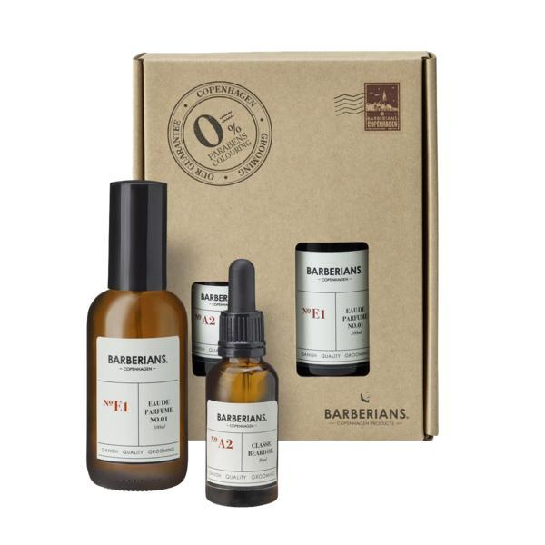 Set cadou apa de parfum 100ml si ulei 30ml pentru barba, Barberians imagine produs